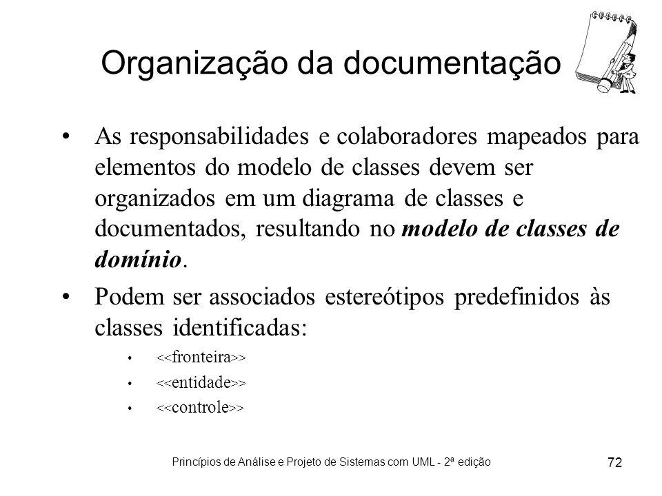 Organização da documentação