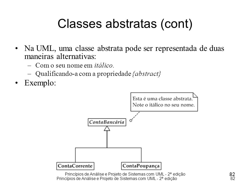 Classes abstratas (cont)