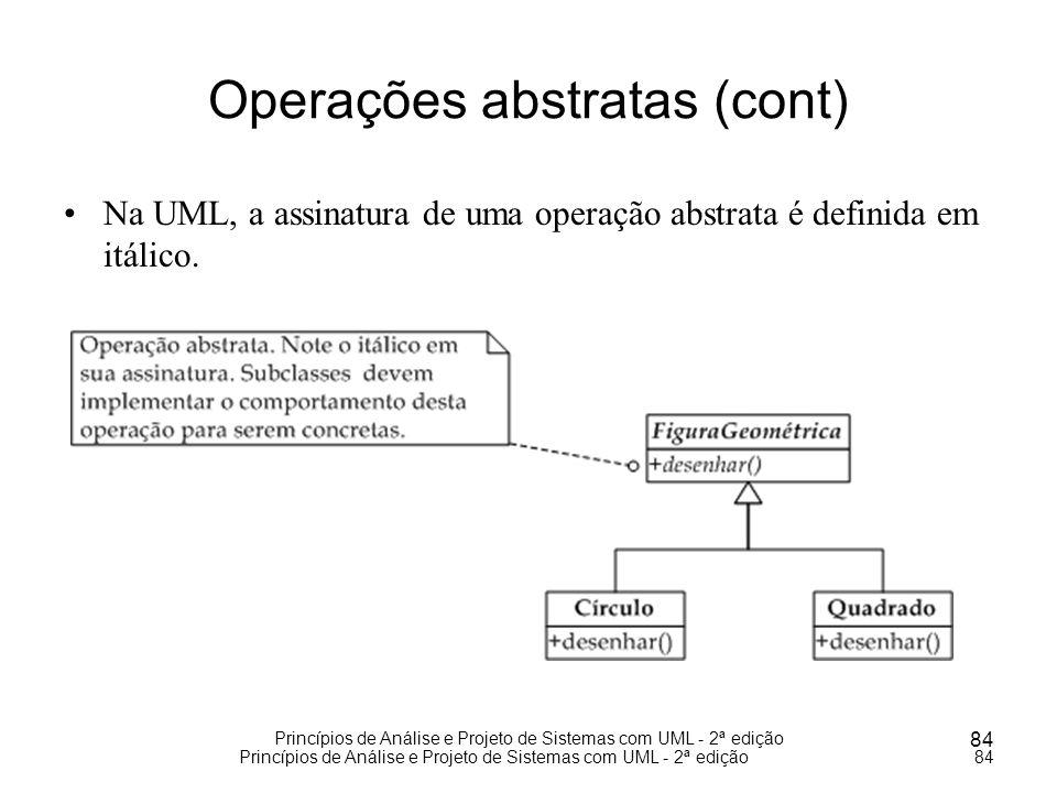 Operações abstratas (cont)
