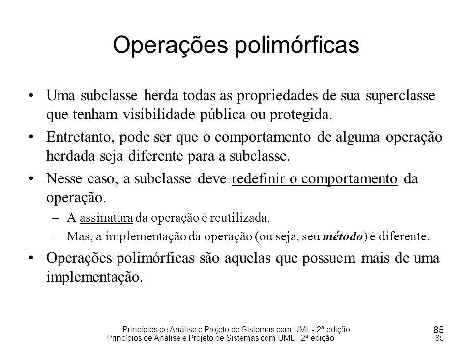 Operações polimórficas