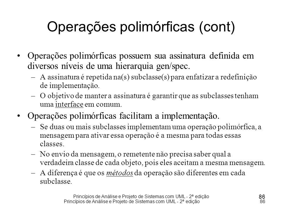 Operações polimórficas (cont)