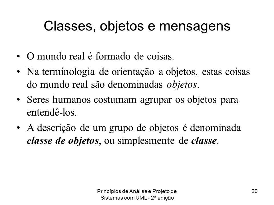 Classes, objetos e mensagens