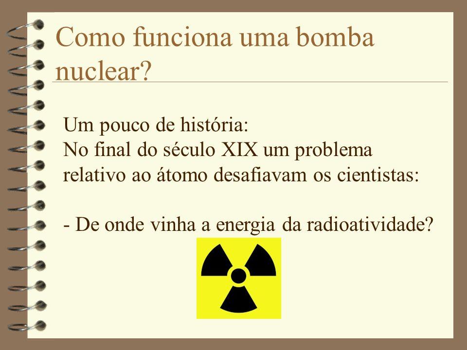 Como funciona uma bomba nuclear