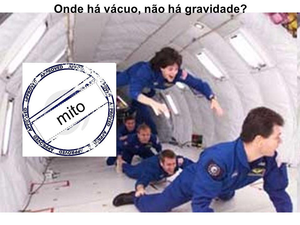 Onde há vácuo, não há gravidade