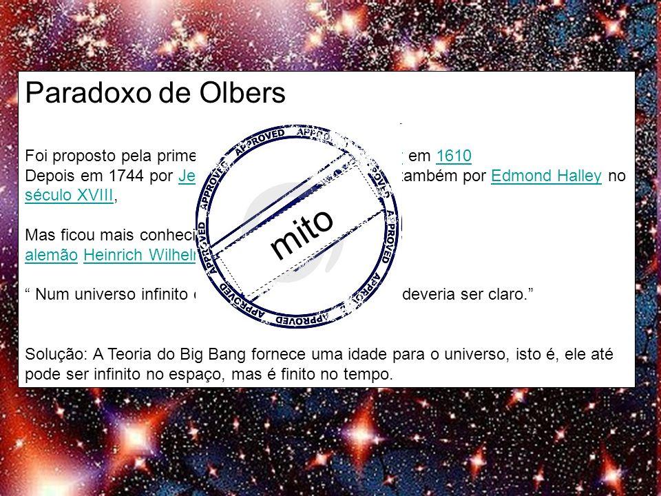Paradoxo de Olbers mito