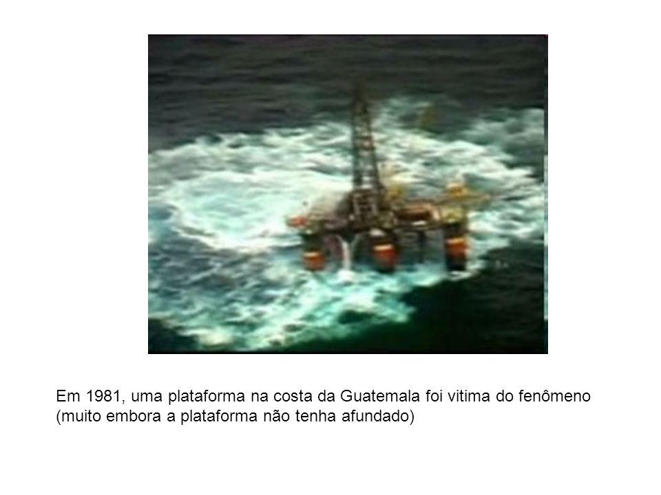 Em 1981, uma plataforma na costa da Guatemala foi vitima do fenômeno (muito embora a plataforma não tenha afundado)