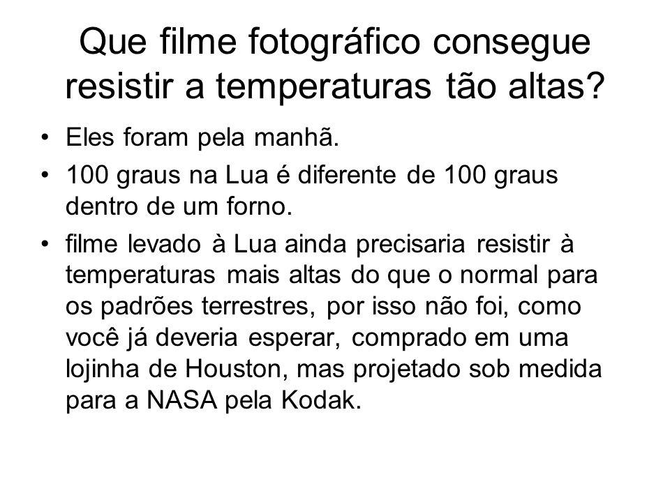Que filme fotográfico consegue resistir a temperaturas tão altas