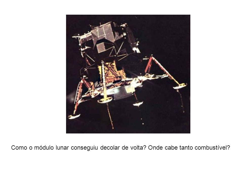 Como o módulo lunar conseguiu decolar de volta