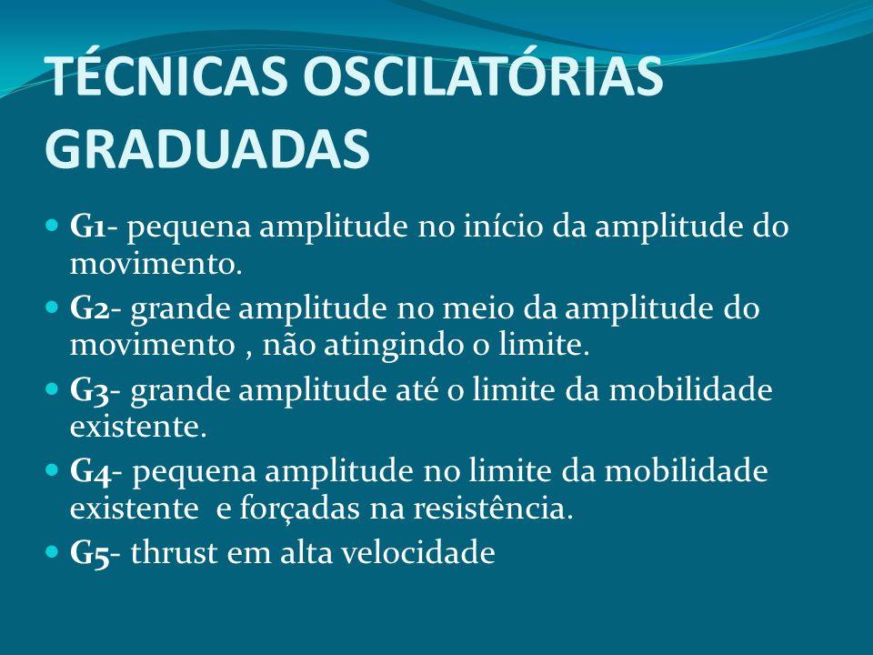 TÉCNICAS OSCILATÓRIAS GRADUADAS