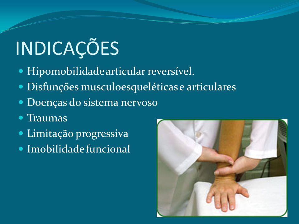 INDICAÇÕES Hipomobilidade articular reversível.