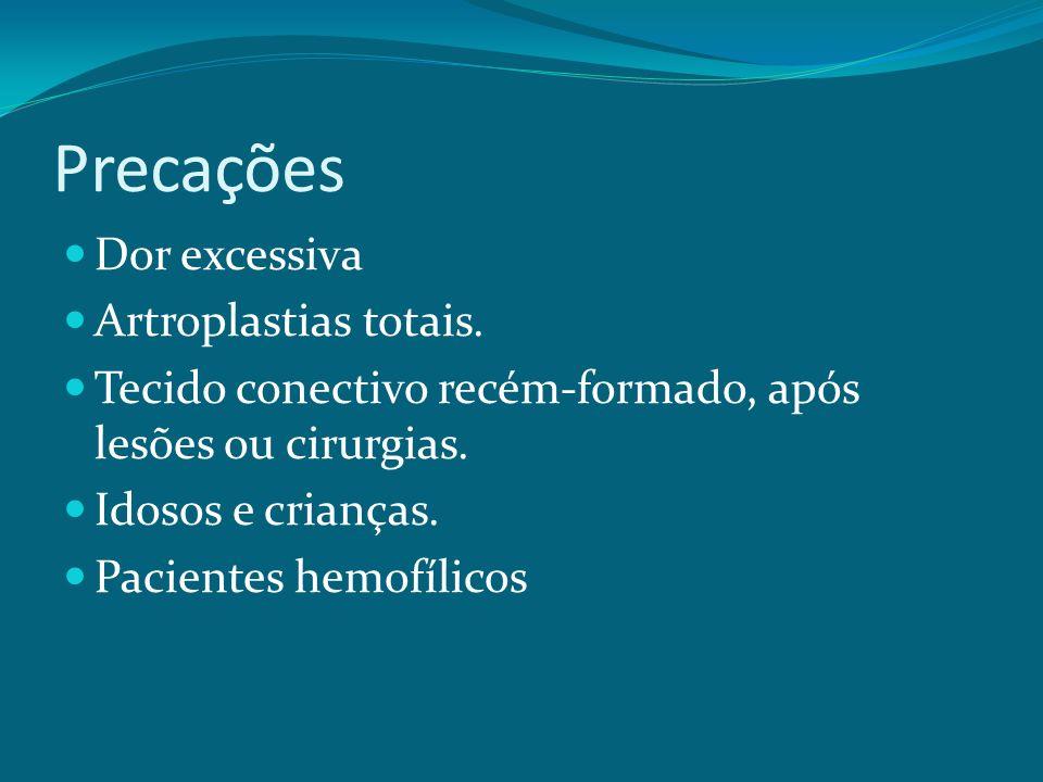 Precações Dor excessiva Artroplastias totais.