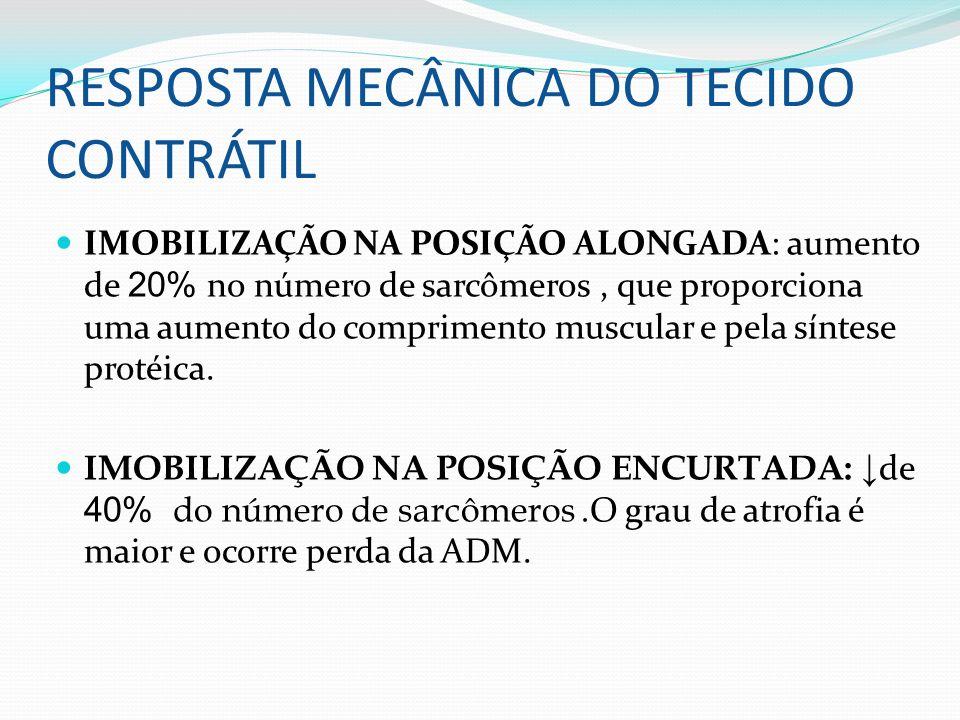 RESPOSTA MECÂNICA DO TECIDO CONTRÁTIL