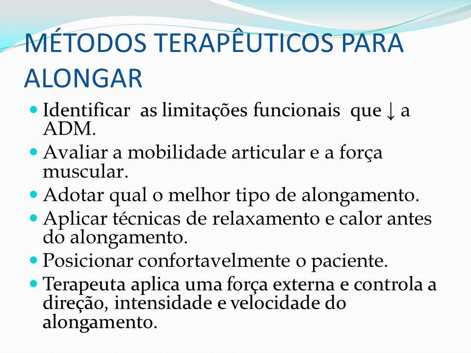 MÉTODOS TERAPÊUTICOS PARA ALONGAR