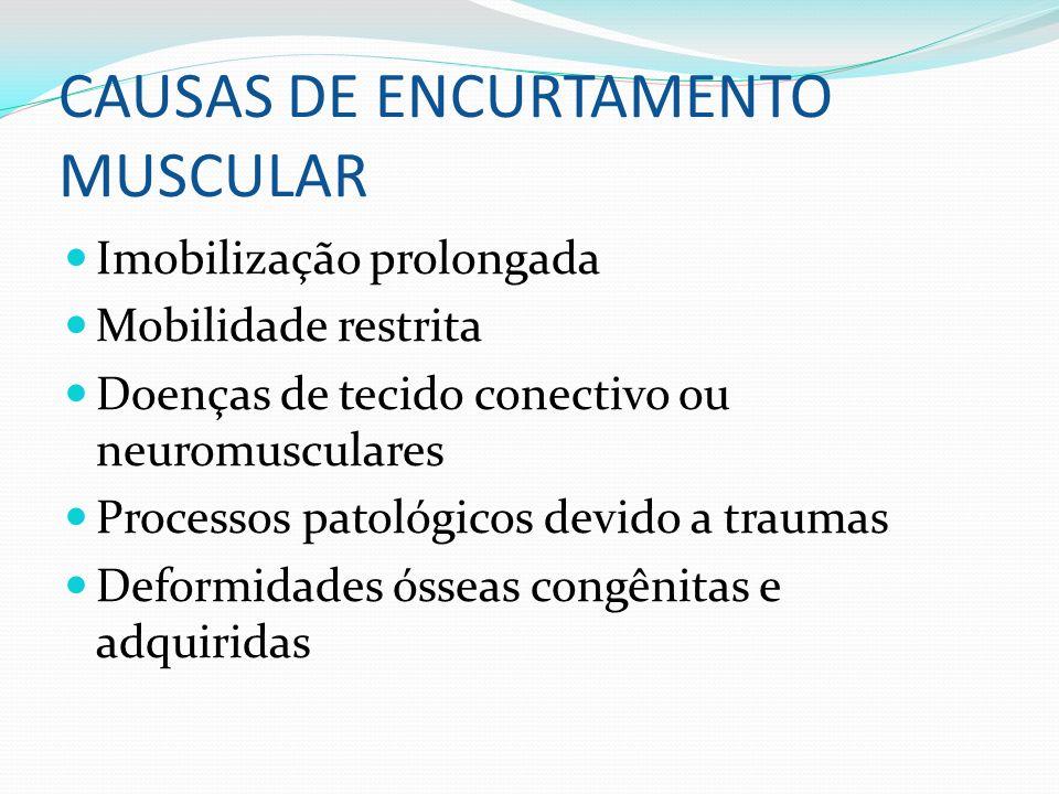 CAUSAS DE ENCURTAMENTO MUSCULAR