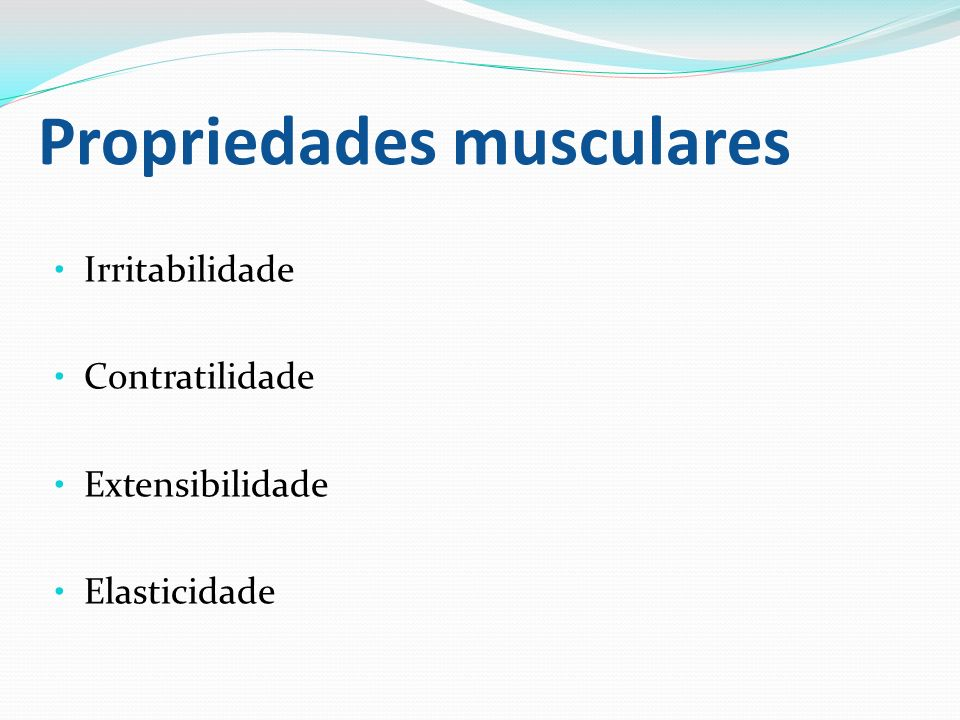 Propriedades musculares