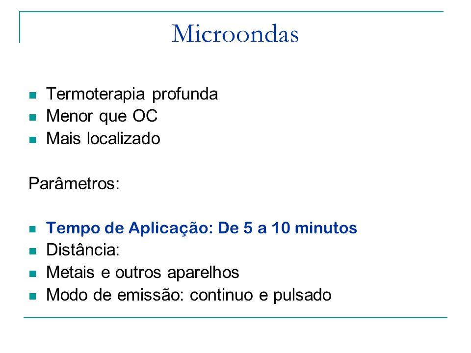 Microondas Termoterapia profunda Menor que OC Mais localizado