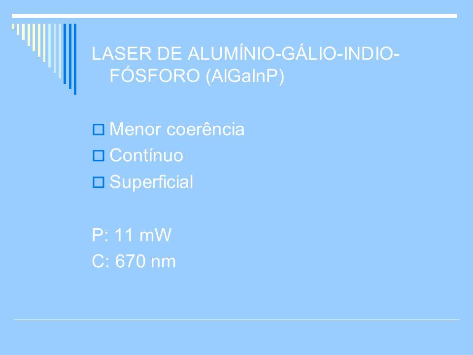 LASER DE ALUMÍNIO-GÁLIO-INDIO-FÓSFORO (AlGaInP)