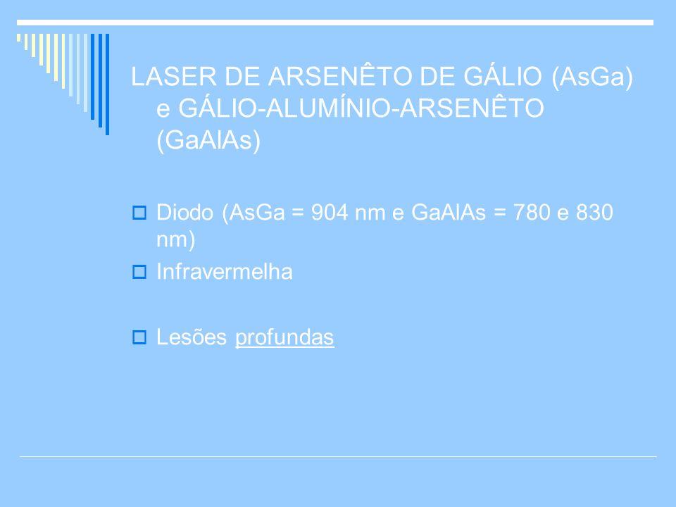 LASER DE ARSENÊTO DE GÁLIO (AsGa) e GÁLIO-ALUMÍNIO-ARSENÊTO (GaAlAs)