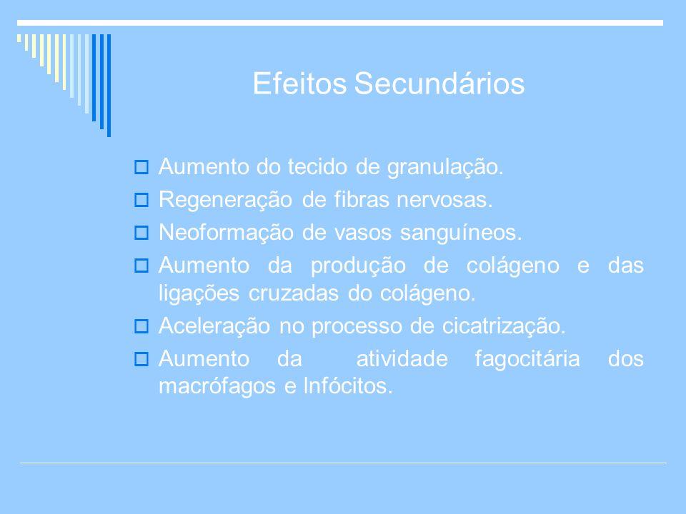 Efeitos Secundários Aumento do tecido de granulação.