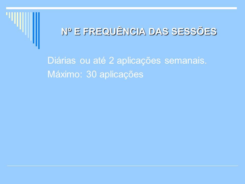 Nº E FREQUÊNCIA DAS SESSÕES