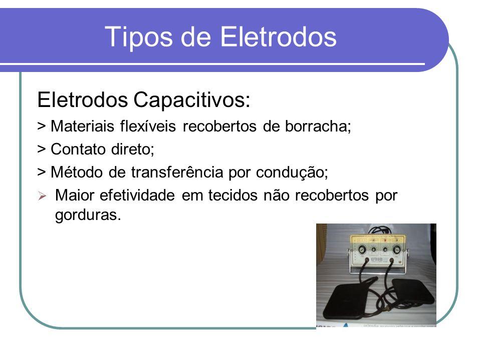 Tipos de Eletrodos Eletrodos Capacitivos: