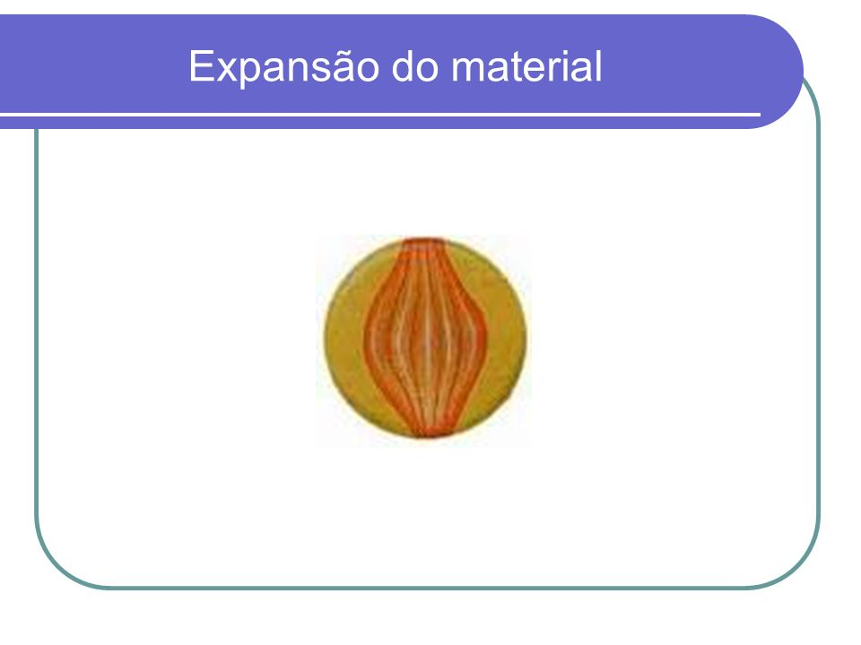 Expansão do material