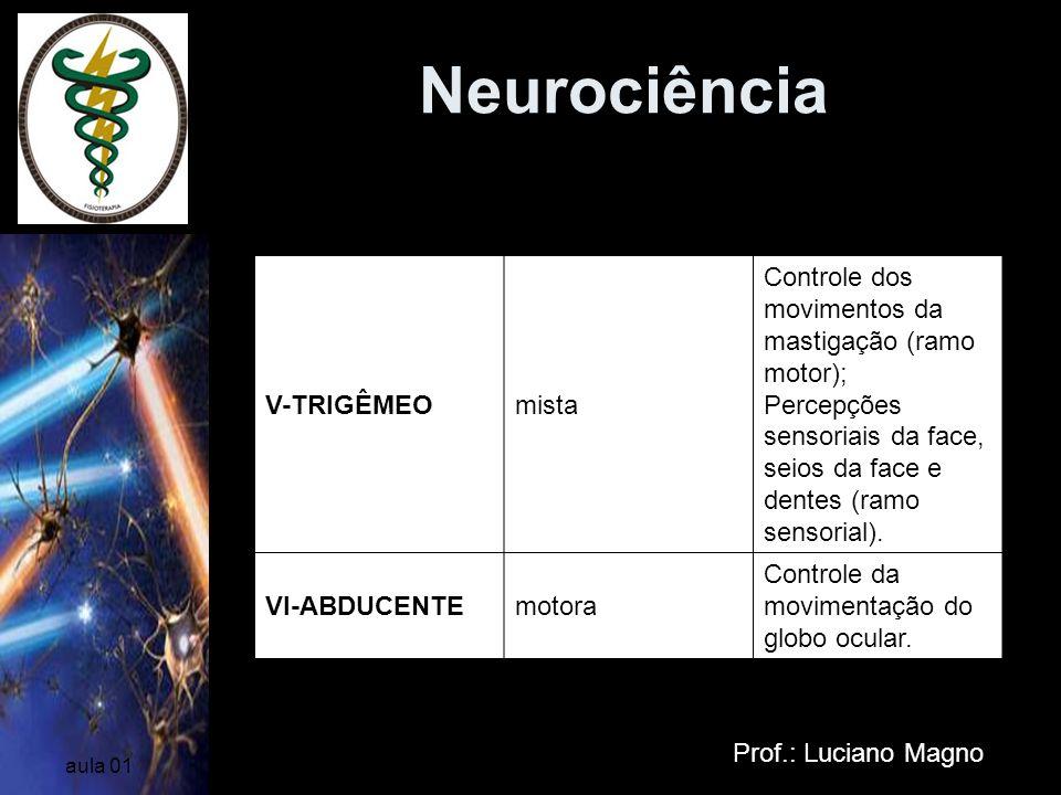Neurociência Nervos Cranianos V-TRIGÊMEO mista