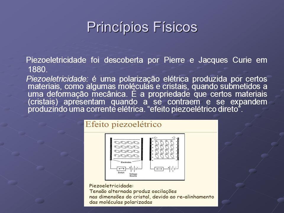 Piezoeletricidade foi descoberta por Pierre e Jacques Curie em 1880.