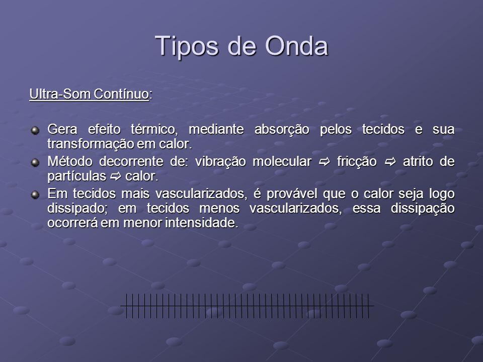 Tipos de Onda Ultra-Som Contínuo: