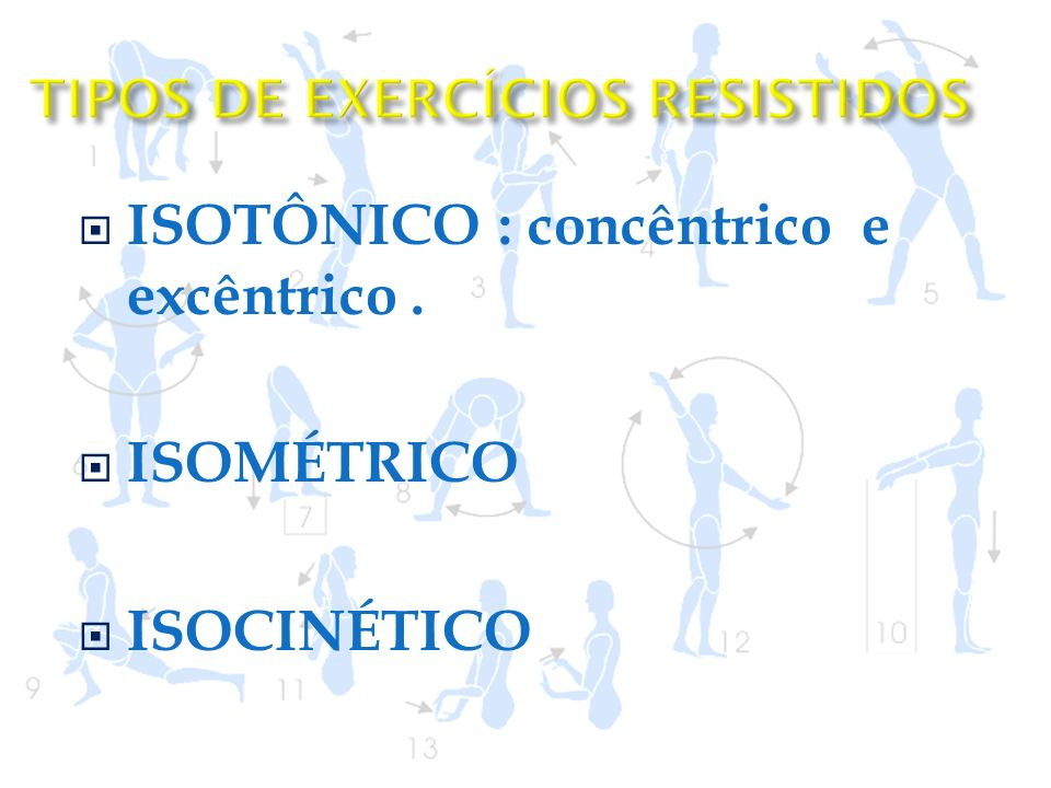 TIPOS DE EXERCÍCIOS RESISTIDOS