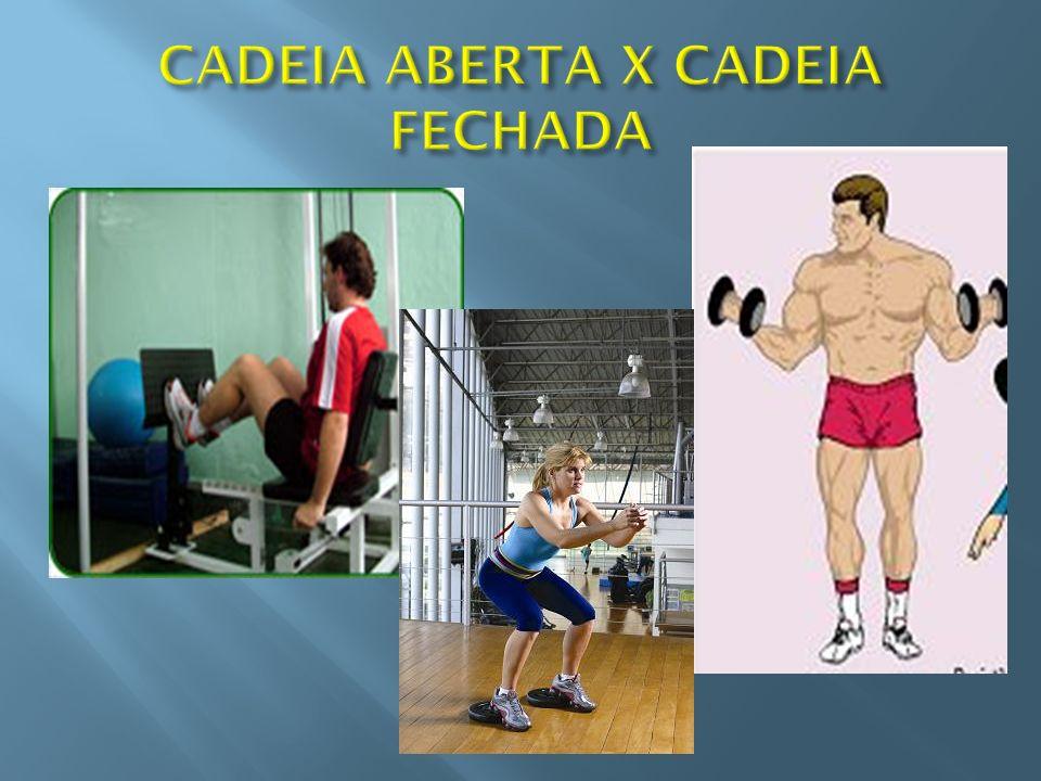 CADEIA ABERTA X CADEIA FECHADA
