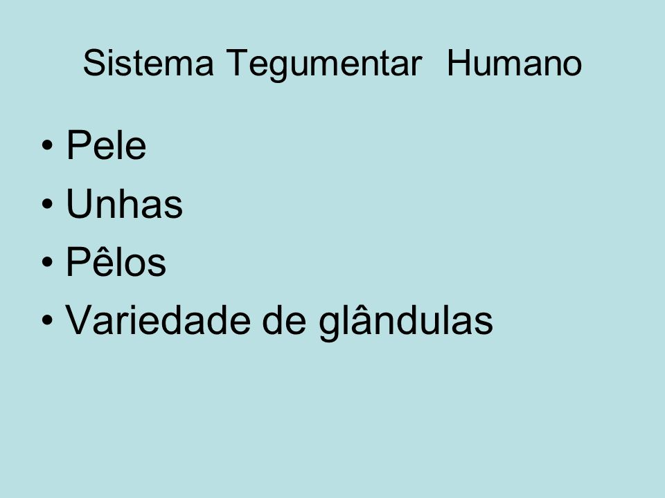 Sistema Tegumentar Humano