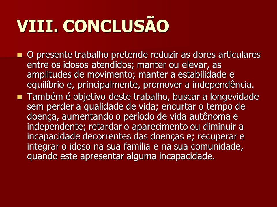 VIII. CONCLUSÃO