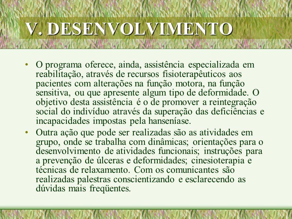 V. DESENVOLVIMENTO