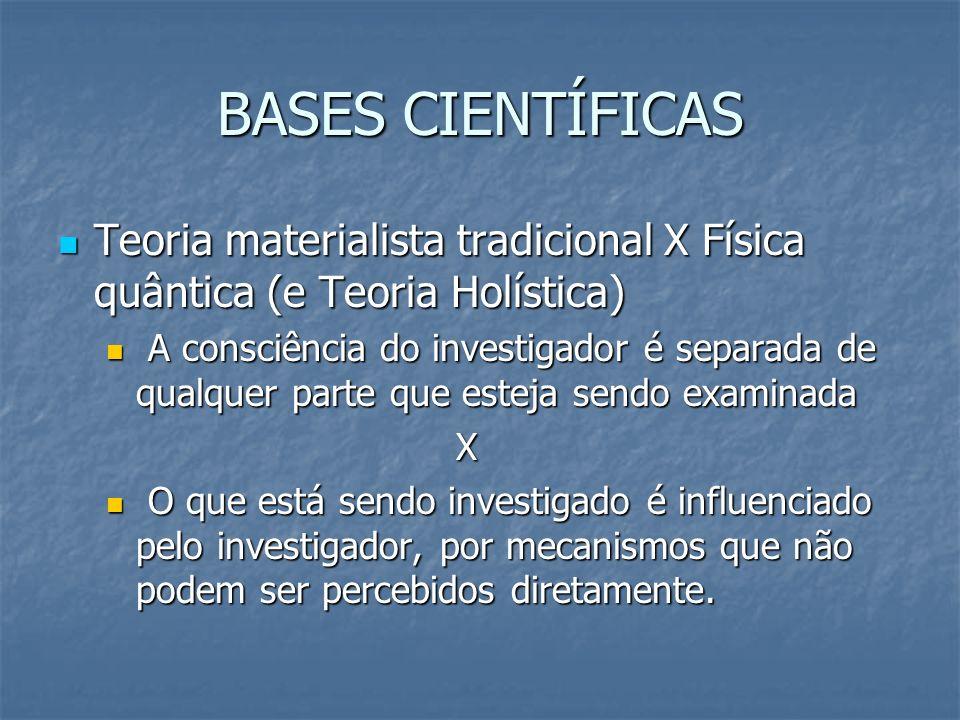 BASES CIENTÍFICASTeoria materialista tradicional X Física quântica (e Teoria Holística)