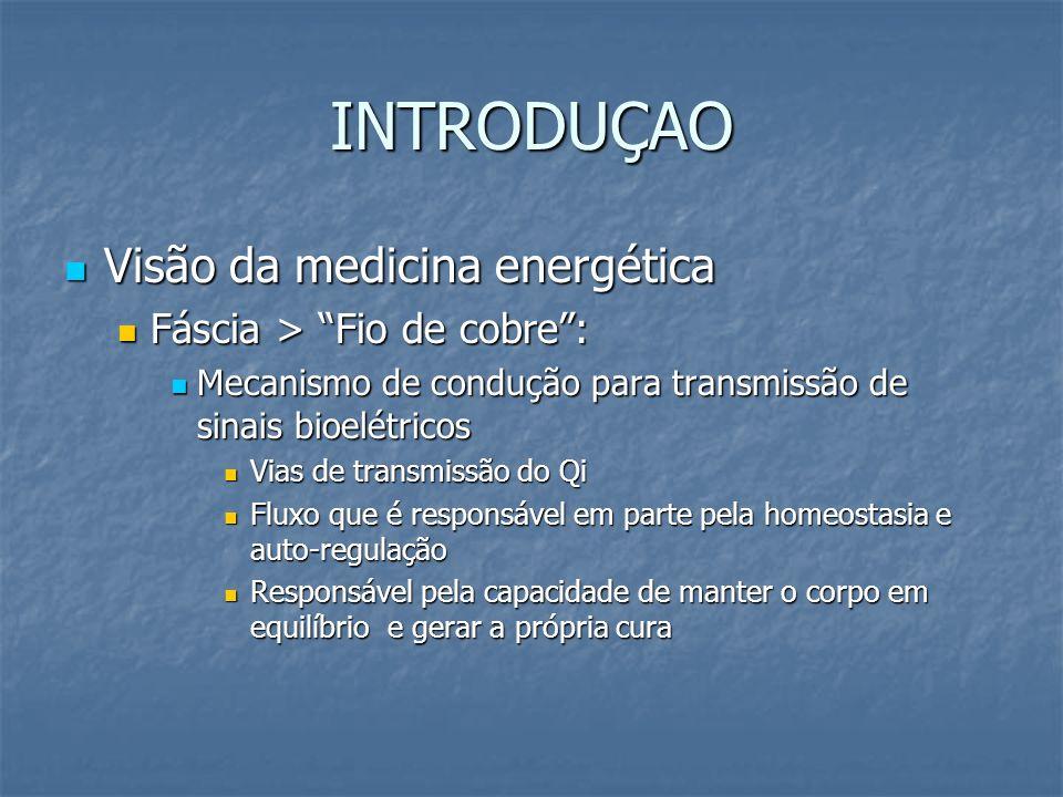 INTRODUÇAO Visão da medicina energética Fáscia > Fio de cobre :