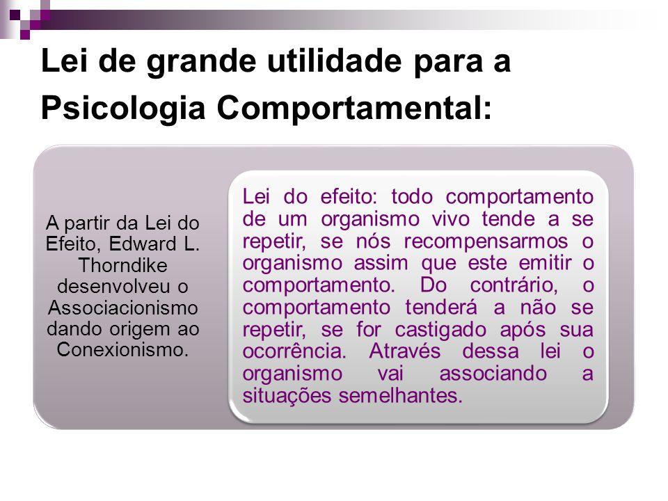 Lei de grande utilidade para a Psicologia Comportamental: