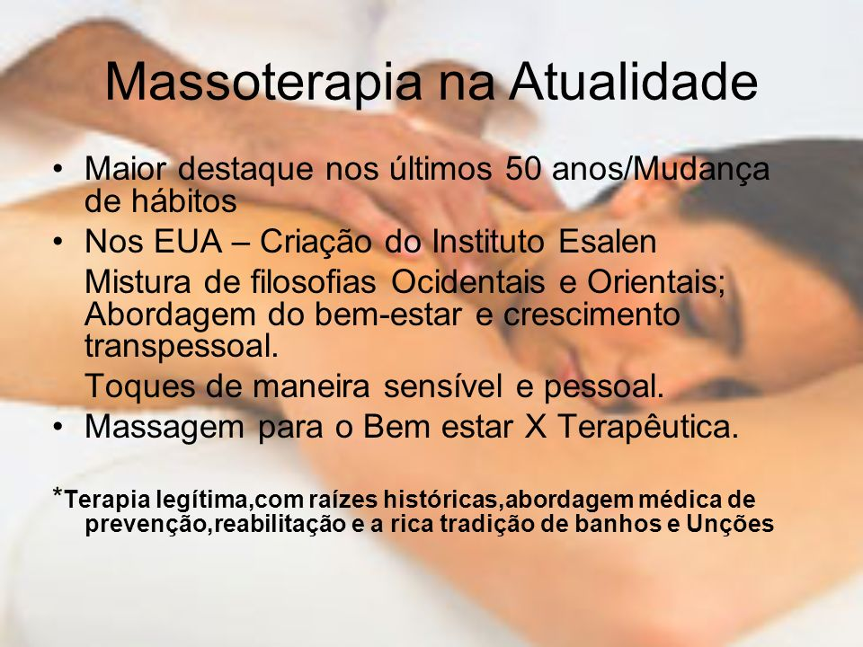 Massoterapia na Atualidade