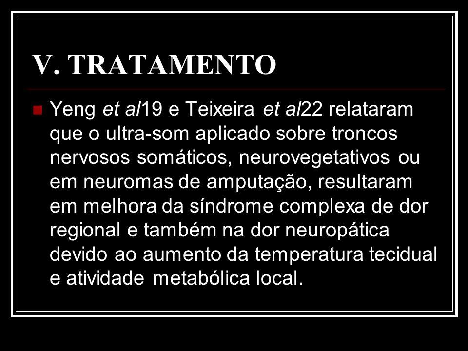 V. TRATAMENTO