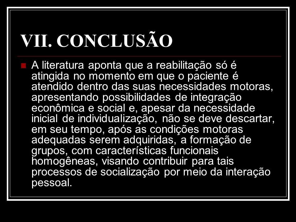 VII. CONCLUSÃO