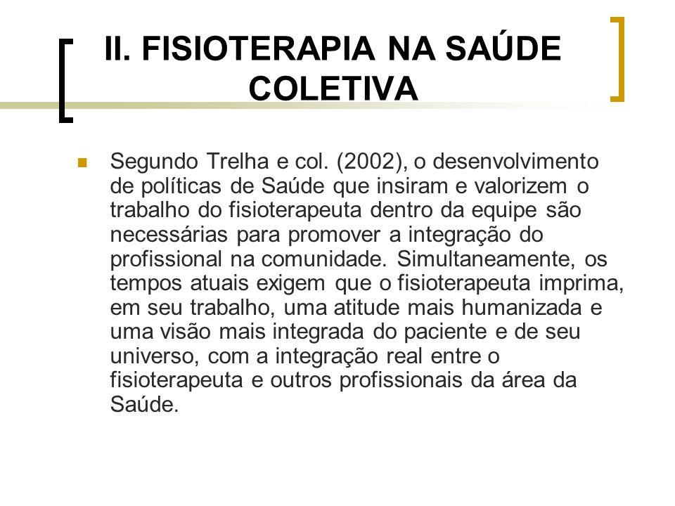 II. FISIOTERAPIA NA SAÚDE COLETIVA