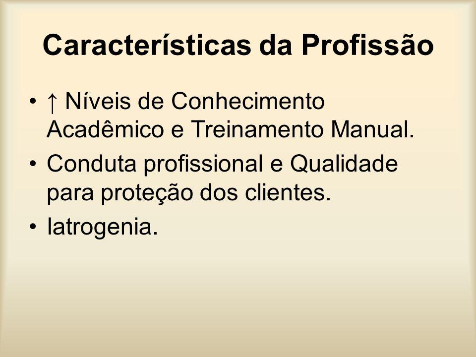 Características da Profissão