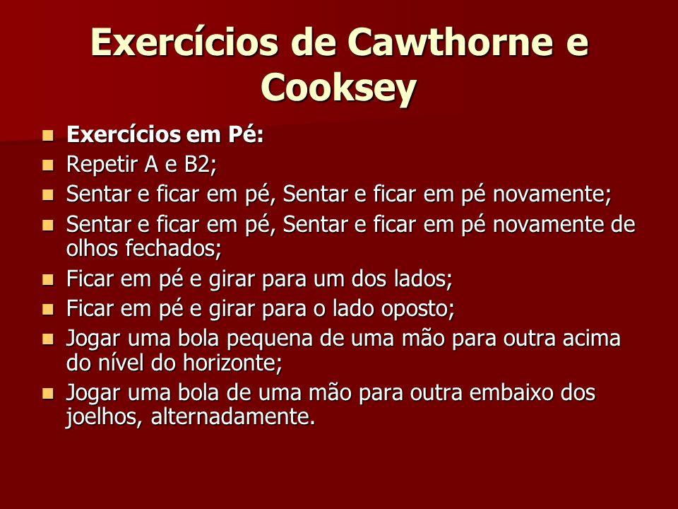 Exercícios de Cawthorne e Cooksey