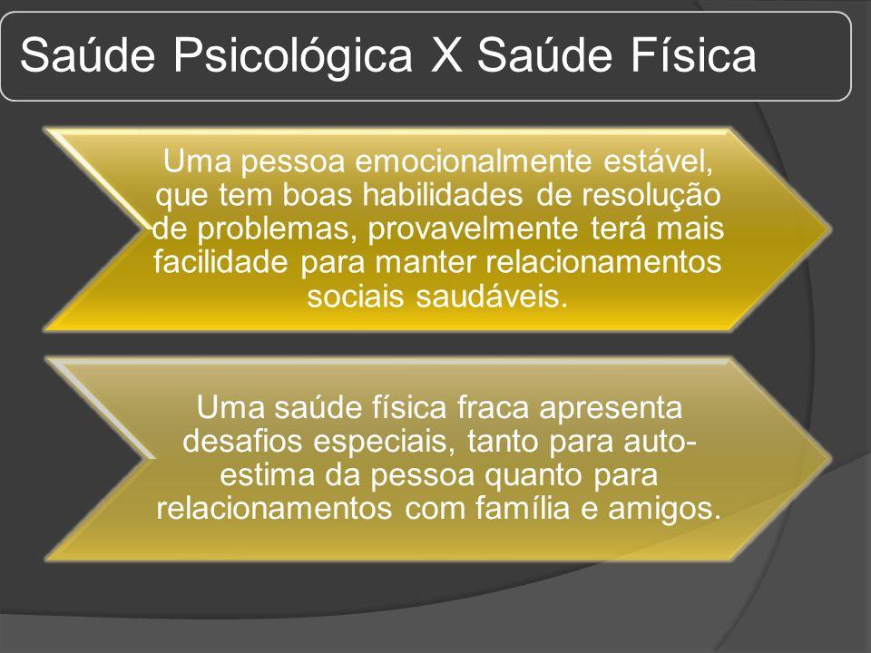 Saúde Psicológica X Saúde Física