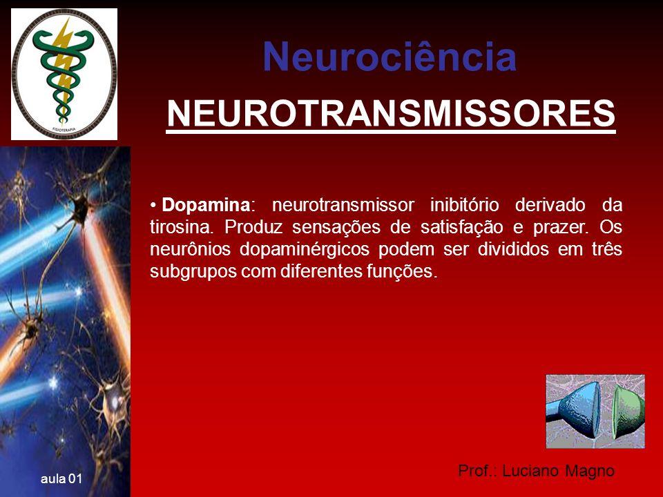 Neurociência NEUROTRANSMISSORES