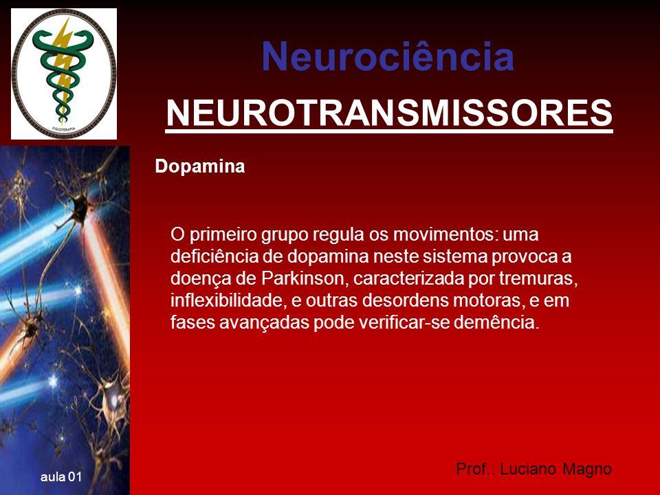 Neurociência NEUROTRANSMISSORES Dopamina