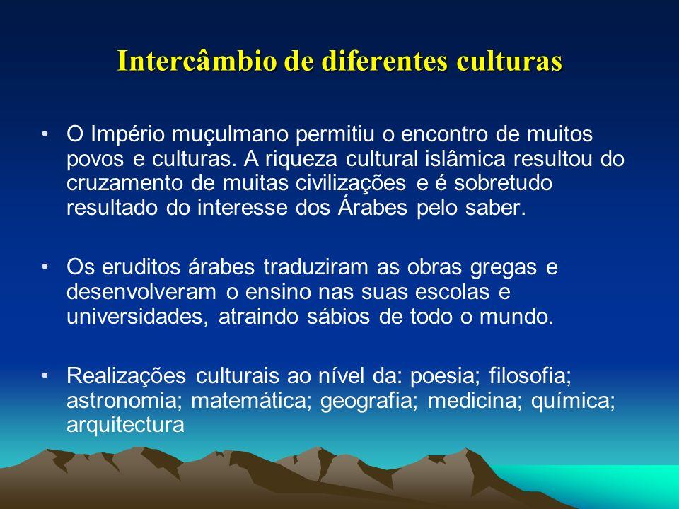 Intercâmbio de diferentes culturas