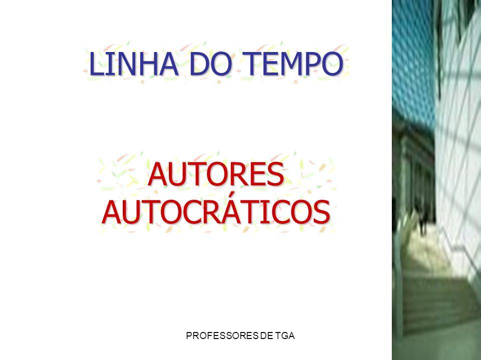 LINHA DO TEMPO AUTORES AUTOCRÁTICOS PROFESSORES DE TGA