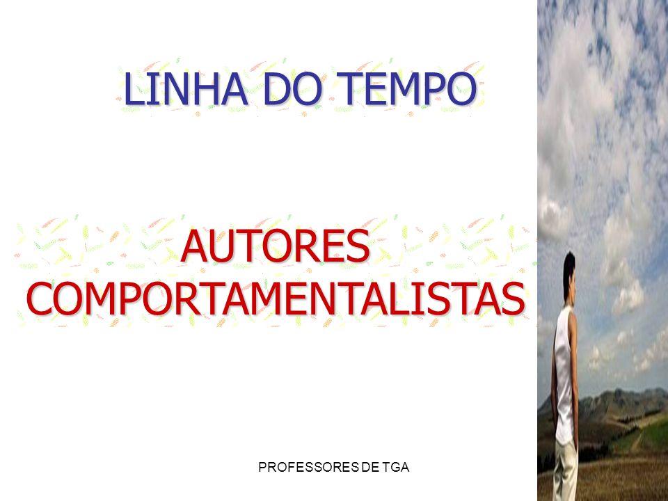 LINHA DO TEMPO AUTORES COMPORTAMENTALISTAS PROFESSORES DE TGA