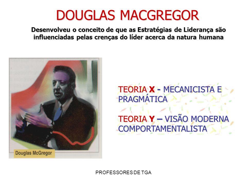 DOUGLAS MACGREGOR TEORIA X - MECANICISTA E PRAGMÁTICA